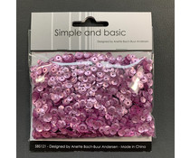 Simple and Basic Pink Sequin Mix (SBS121)