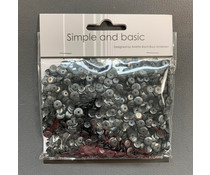 Simple and Basic Black Sequin Mix (SBS120)