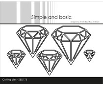 Simple and Basic Diamonds Cutting Dies (SBD173)