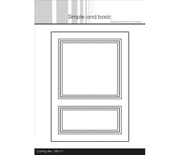 Simple and Basic A6 Card Front 1 Cutting Dies (SBD171)