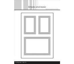 Simple and Basic A6 Card Front 2 Cutting Dies (SBD172)