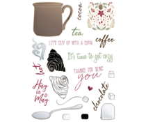 LDRS Creative Cozy Cuppa 6x8 Inch Clear Stamps (LDRS3342)