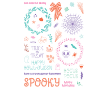 LDRS Creative Trick or Treat Pirouette 6x8 Inch Clear Stamps (LDRS3340)