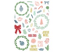 LDRS Creative Peace & Joy Pirouette 6x8 Inch Clear Stamps (LDRS3341)