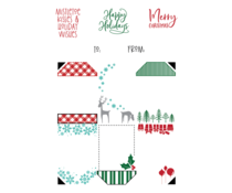 LDRS Creative Christmas Gift Tag Stack 4x6 Inch Clear Stamps (LDRS3347)
