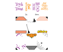 LDRS Creative Halloween Gift Tag Stack 4x6 Inch Clear Stamps (LDRS3346)