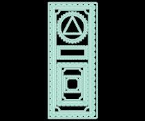 LDRS Creative Diagonal Stitched Postage Frames Slim Line Dies (LDRS8254)