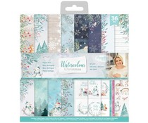 Crafter's Companion Watercolour Christmas 12x12 Inch Paper Pad (S-WC-PAD12)