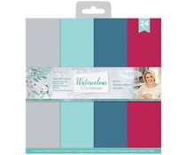 Crafter's Companion Watercolour Christmas 12x12 Inch Pearlescent Card Pad (S-WC-LUX-PCP12)