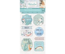 Crafter's Companion Watercolour Christmas Character 3D Die-Cut Toppers (S-WC-3D-DTOP)