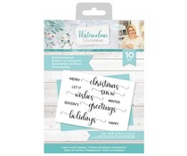 Crafter's Companion Watercolour Christmas Clear Stamps Brush Sentiments (S-WC-ST-BRUS)