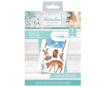 Crafter's Companion Watercolour Christmas Clear Stamps Joyful Wishes (S-WC-ST-JOYFW)