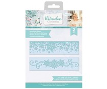 Crafter's Companion Watercolour Christmas Embossing Folder Snowflake Edges (S-WC-EFS-SNOED)