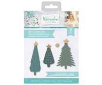 Crafter's Companion Watercolour Christmas Metal Die Quirky Christmas Trees (S-WC-MD-QUCHR)