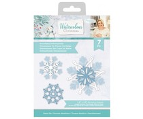 Crafter's Companion Watercolour Christmas Metal Die Snowflake Dimensionals (S-WC-MD-SNODI)