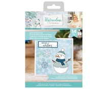Crafter's Companion Watercolour Christmas Stamp & Die Build-A-Snowman (S-WC-STD-BUAS)