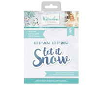 Crafter's Companion Watercolour Christmas Stamp & Die Let It Snow (S-WC-STD-LETSN)