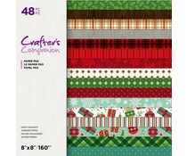 Crafter's Companion Happy Holidays 8x8 Inch Paper Pad (CC-PAD8-HAPHOL)