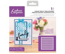 Crafter's Companion Elegant Trellis Background Stencils (CC-STEN-ELTREL)