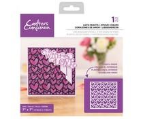 Crafter's Companion Love Hearts Background Stencils (CC-STEN-LOVHEA)