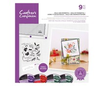 Crafter's Companion Holly and Poinsettia Stamps & Stencils (CC-STP-HOPO)