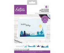 Crafter's Companion Enjoy the Season Clear Stamps (CC-STP-ENTS)