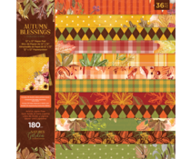 Crafter's Companion Autumn Blessings Collection 12x12 Inch Paper Pad (NG-AUT-PAD12)
