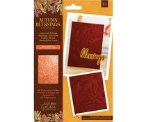 Crafter's Companion Autumn Blessings Collection 3D Embossing Folder Autumnal Foliage (NG-AUT-EF5-3D-AUTF)