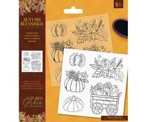 Crafter's Companion Autumn Blessings Collection Clear Stamps Pumpkin Patch (NG-AUT-ST-PUMP)