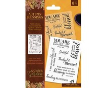 Crafter's Companion Autumn Blessings Collection Clear Stamps Thankful & Blessed (NG-AUT-ST-THAN)