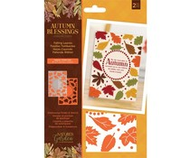 Crafter's Companion Autumn Blessings Collection Embossing Folder & Stencil Falling Leaves (NG-AUT-EF5-FALL)