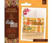 Crafter's Companion Autumn Blessings Collection Stamp & Die Thanks (NG-AUT-STD-THAN)