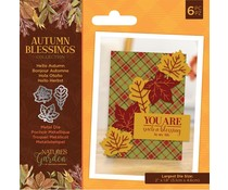 Crafter's Companion Autumn Blessings Collection Metal Die Hello Autumn (NG-AUT-MD-HELA)