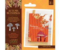 Crafter's Companion Autumn Blessings Collection Metal Die Forest Toadstools (NG-AUT-MD-FORT)