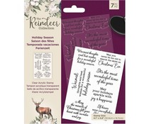 Crafter's Companion The Reindeer Collection Clear Stamps Holiday Season (TRC-ST-HOLSE)