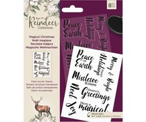 Crafter's Companion The Reindeer Collection Clear Stamps Magical Christmas (TRC-ST-MAGCH)