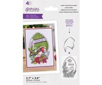 Gemini Happy Christmas Wishes Stamp & Die (GEM-STD-HACHWI)