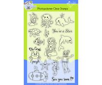 Lil' Bluebird Designs Under the Sea Stamp Set (LBD-S016)