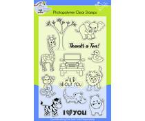 Lil' Bluebird Designs Safari Friends Stamp Set (LBD-S015)