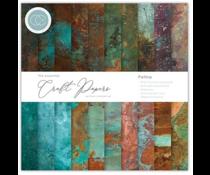 Craft Consortium Essential Craft Papers 6x6 Inch Paper Pad Patina (CCEPAD017B)