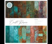 Craft Consortium Essential Craft Papers 12x12 Inch Paper Pad Patina (CCEPAD017)