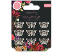 Craft Consortium Midnight Flight Metal Charms Moths (CCMCHRM029)