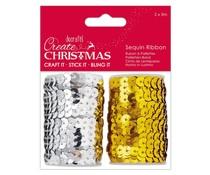 Papermania Create Christmas Sequin Ribbon (2x5m) (PMA 367929)