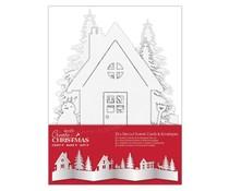 Papermania Create Christmas Card & Envelope Die-cut Scene White (25pcs) (PMA 150928)
