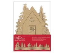 Papermania Create Christmas Card & Envelope Die-cut Scene Brown Kraft (25pcs) (PMA 150927)