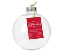 Papermania Create Christmas Plastic Fillable Bauble Extra Large (1pcs) (PMA 105908)