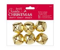 Papermania Create Christmas Extra Large Jingle Bells Gold (6pcs) (PMA 356908)