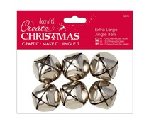 Papermania Create Christmas Extra Large Jingle Bells Silver (6pcs) (PMA 356909)