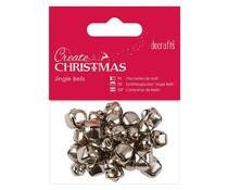 Papermania Create Christmas Jingle Bells Silver Assorted Sizes (30pcs) (PMA 356906)