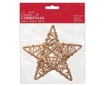 Papermania Create Christmas Rattan Star Natural 140mm (PMA 174460)